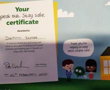 Nspcc certificate