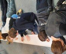 Upper school storyboarding their mythical worlds